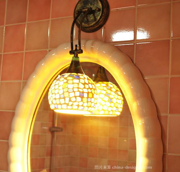 """丽人美屋-尚伟平的设计师家园-现代欧式,卫生间(原为""""卫浴""""),厨房,餐厅,客厅,跃层,二居"""