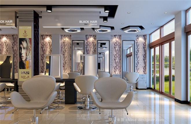 成都大妙装饰 黑头发理发店案例-成都大妙装饰公司的设计师家园-现代简约,美发