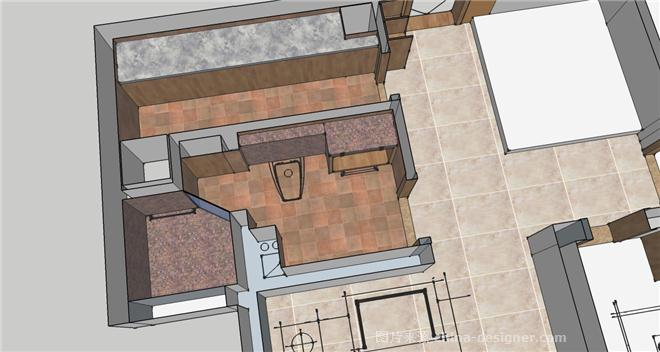 孔令军设计----小户型-孔令军的设计师家园-后现代主义,和风日式,东南亚风格,北欧风格,衣帽间,过道,一居