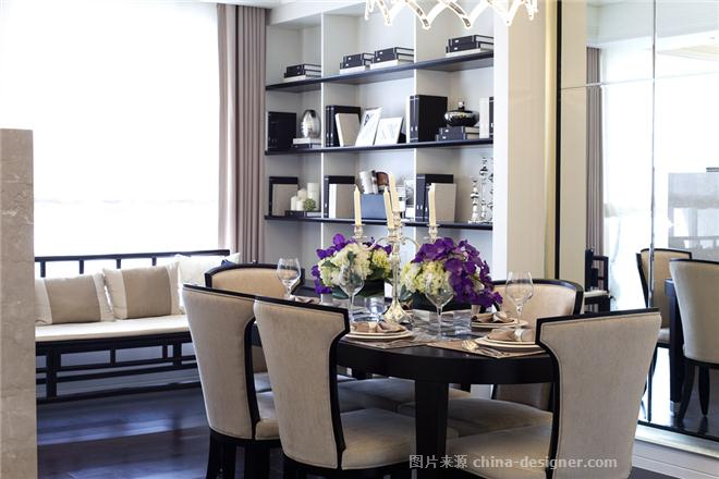 金色家园低调奢华装修风格-上海兆庭建筑装饰工程有限公司的设计师家园-现代欧式,三居