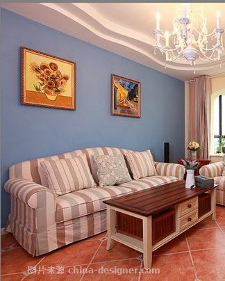 正大家园地中海风格室内装饰-上海兆庭建筑装饰工程有限公司的设计师家园-地中海风格,客厅,二居