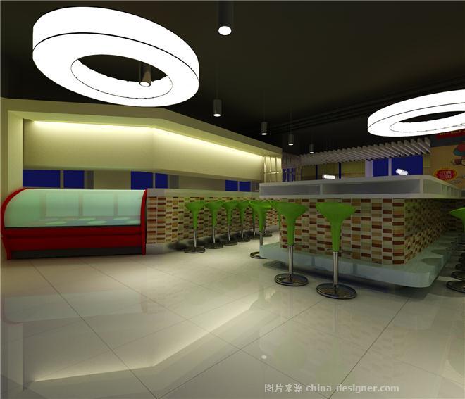 吧台式回转小火锅店装修设计-黄杰的设计师家园-火锅