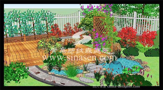 青岛瑞士花园庭院设计案例-青岛斯纳森园林有限公司的设计师家园-新中