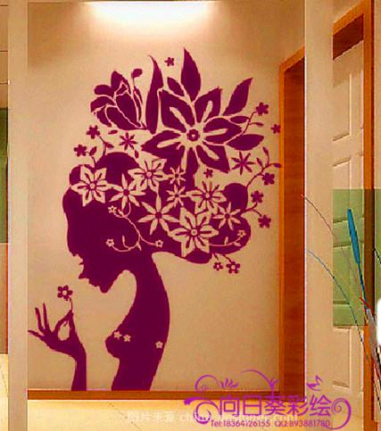 向日葵墙体彩绘手绘墙墙绘为您生活添姿多彩-济南向日葵人体彩绘服务
