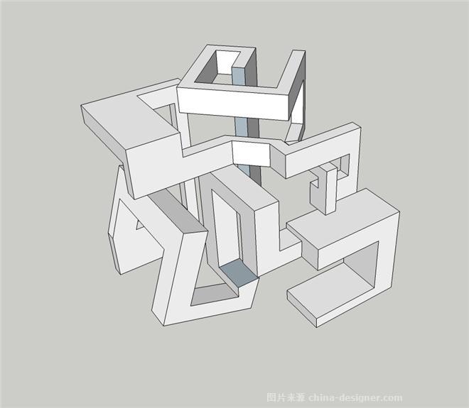 会展的空间结构手绘设计