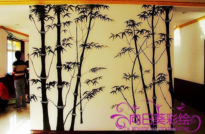 向日葵彩绘专业经营墙绘 手绘墙 墙体彩绘-济南向日葵人体彩绘服务