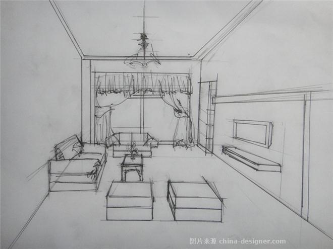 客厅简笔画的步骤
