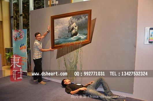 广州佛山3d立体画地画艺术-东社墙绘的设计师家园-广州佛山3d立体画地
