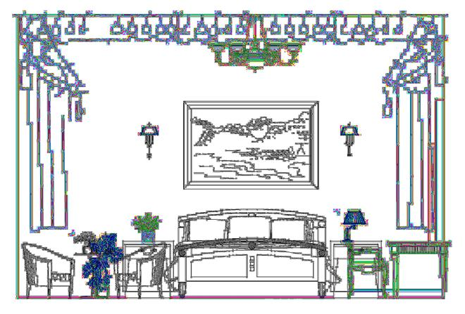 二层卧室立面图