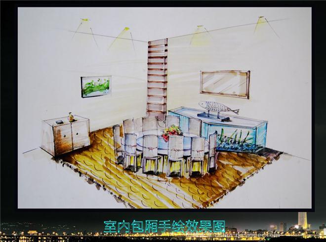 庄渔海鲜楼设计施工图-刘国华的设计师家园-自助餐厅
