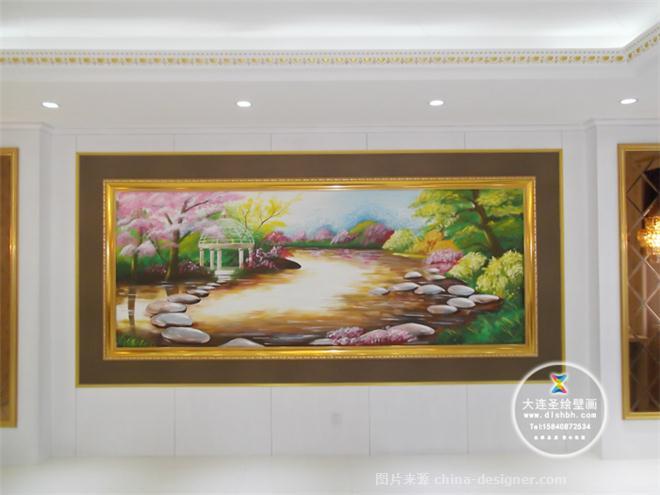 大连墙体彩绘手绘墙画—风景彩绘-李广会的设计师家园-休闲区,办公楼