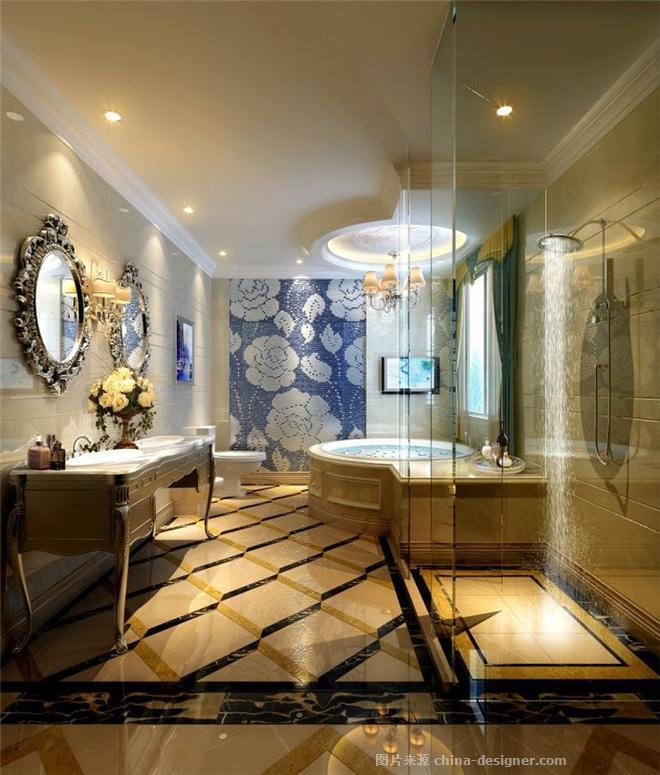 """后现代主义,现代欧式,卫生间(原为""""卫浴""""),卧室,餐厅,客厅,联排别墅"""