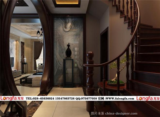 中式别墅装修设计,新-成都龙发装饰的设计师家园