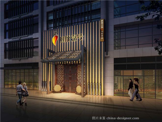 单间门面4米x16米建筑设计图片