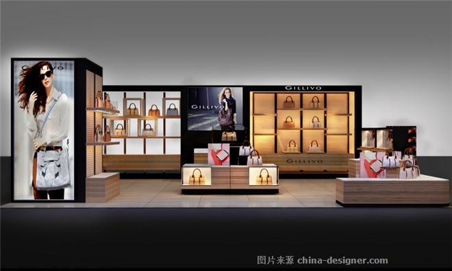 成都箱包店装修设计|专业店铺装修设计-杨静的设计师家园-专柜,销售