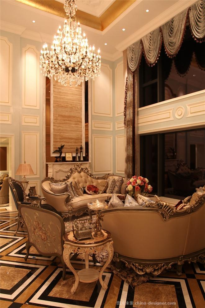 厦门元湾楼王法式风格样板房(实景版)-倪镔的设计师家园-别墅样板间图片