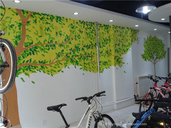 墙绘/健身馆手绘墙/健身中心墙体彩绘/健身俱乐部手绘墙,石家庄墙绘