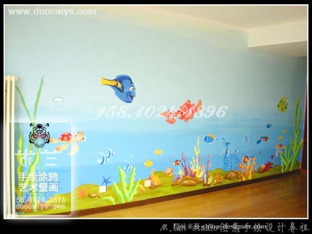 东城幼儿园手绘墙 卡通幼儿园墙