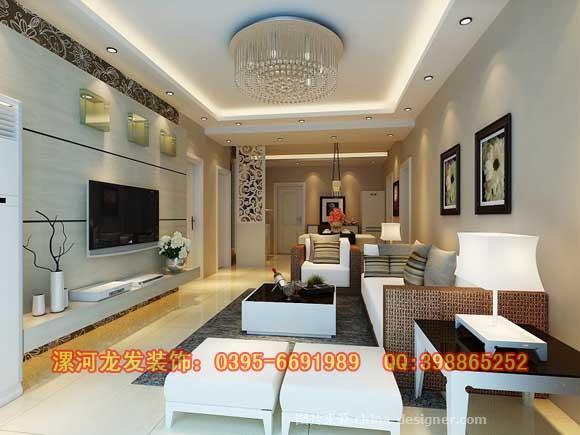漯河棕榈城115平方装修设计精美效果图-漯河龙发装饰