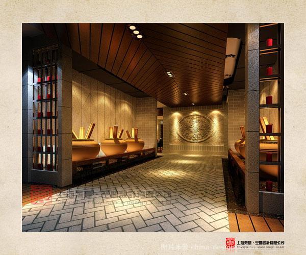 郑州中式特色会面馆设计方案-烩面馆设计效果图图片