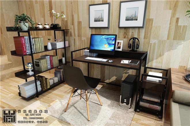 效果图 书桌 书架 电脑桌 -淘宝家具3D效果图 王赛的设计师家园 王赛