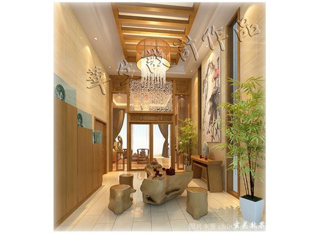 内涵中式-刘官华生的设计师家园-休闲区,传统中式,新中式,花园,玄关图片