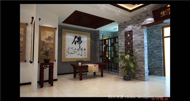 新中式茶厅装修图片