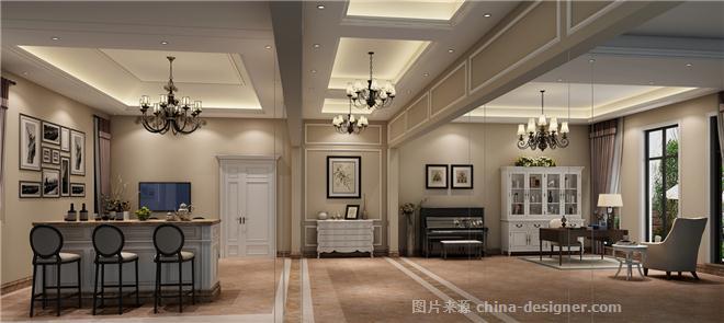 湖别墅豪宅设计-萧宁斌的设计师家园-田园风格,混搭,美式,独栋别墅图片