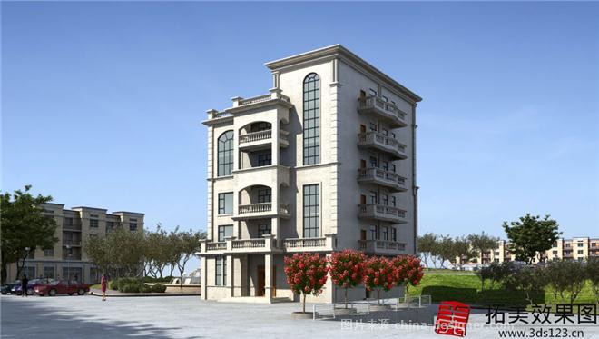 别墅外观效果图制作-黄生的设计师家园-新中式