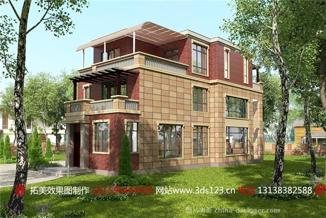 别墅外观效果图制作-黄生的设计师家园-新中式,独栋别墅图片