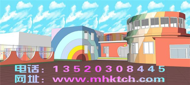 幼儿园楼体彩绘-北京迪阳装饰工程有限公司的设计师