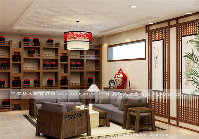 白酒窖展示设计-王雪的设计师家园-新中式,休闲区,独栋别墅图片