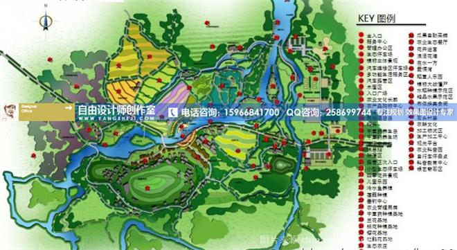 專做生態園效果圖設計,農業生態園效果圖-自由設計師的設計師家園
