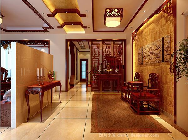 别墅中式风格-郑超群的设计师家园-新中式,传统中式,衣帽间,休闲区图片
