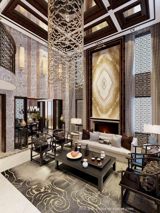 別墅-吳丹的設計師家園-新中式,書房,玄關,臥室,餐廳,客廳,獨棟別墅