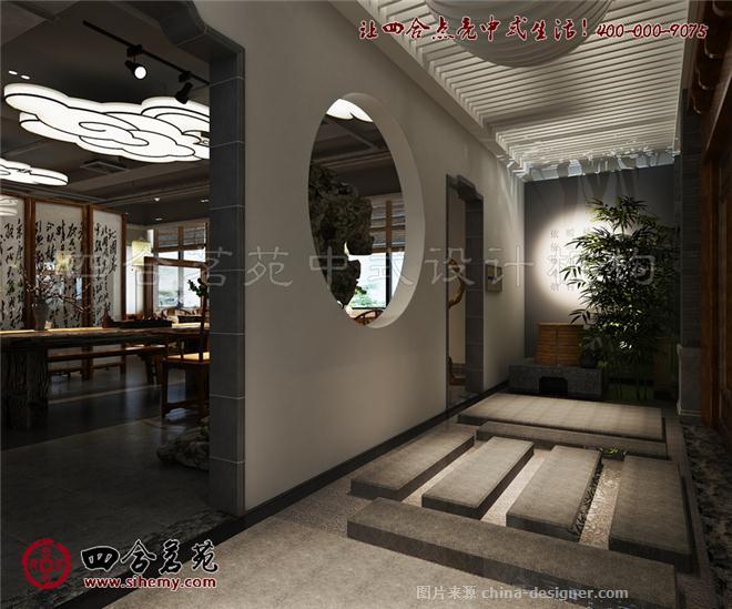 九思茶书苑 茶楼装修效果图-四合茗苑中式设计机构的设计师家园-茶室
