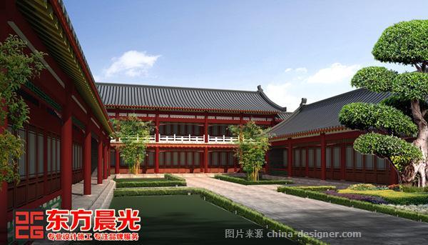 四合院古建筑设计效果图-东方晨光-北京东方晨光装饰有限公司的设计师