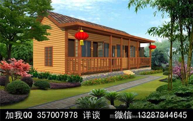 木结构别墅木屋设计案例效果图-室内设计师93的设计