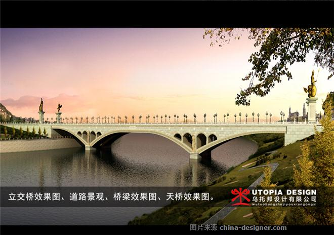桥梁效果图-三维动画,效果图公司的设计师家园-混搭,其他气氛,绿色