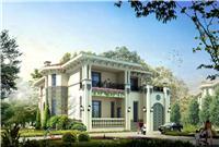 设计师家园-欧式二间二层别墅效果图别墅外观效果图方案
