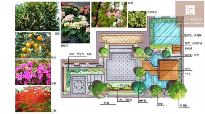 常熟琴湖一号庭院景观设计-李航的设计师家园-独栋,欧式,黄色,紫色