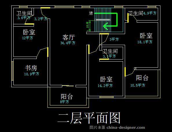 四間三層房屋設計圖三層樓房設計圖效果圖-涂華梅的