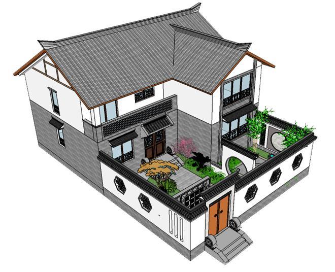 武汉别墅私家花园之新中式乡村别墅田园梦-武汉园周绿景观设计有限图片