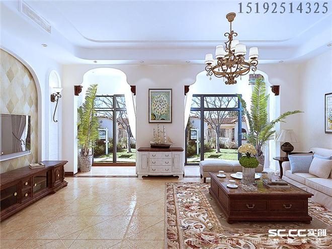简美风格-实创家居装修(青岛)有限公司的设计师家园-美式,客厅