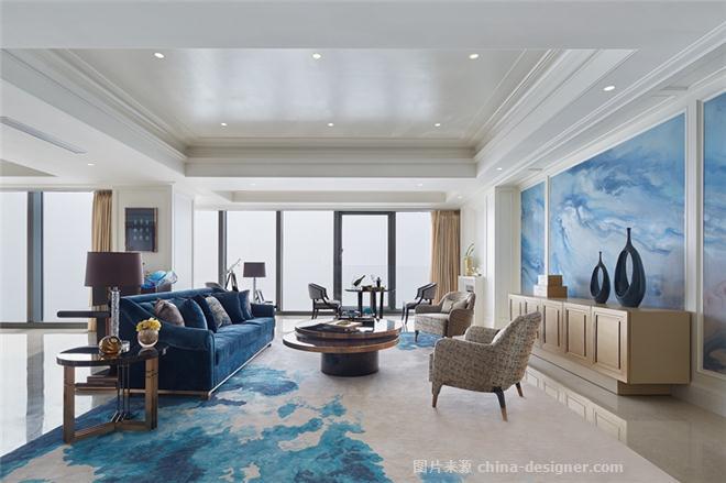 青岛深蓝中心460户型样板房-王稀妮的设计师家园-花园洋房,三居,欧式