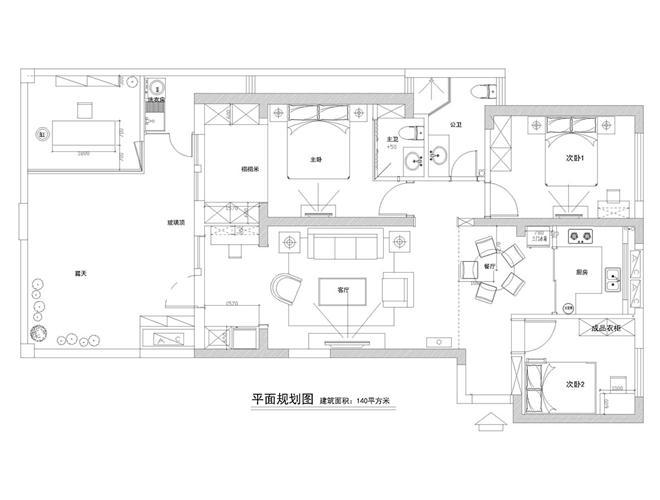正荣御园-刘述灵的设计师家园-住宅样板间,新中式,沉稳庄重