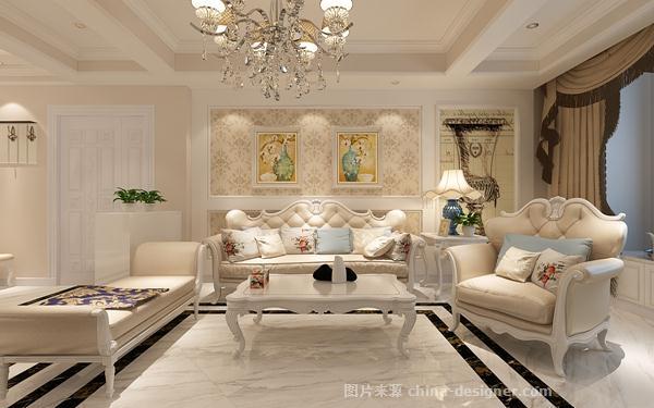 白色欧式客厅装修