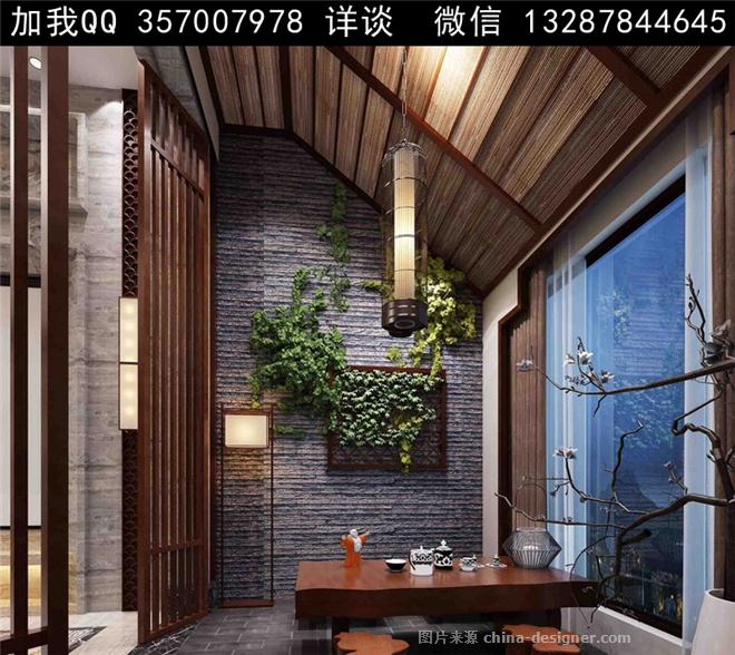 茶室设计案例效果图-室内设计师93的设计师家园-自助餐厅,茶餐厅,农家