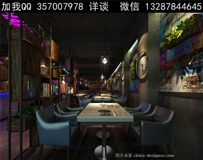 火锅餐厅设计案例效果图-室内设计师93的设计师家园-烧烤店,火锅店