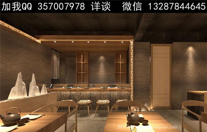 寿司店设计案例效果图